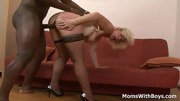 Blonde Mature Interracial MILF