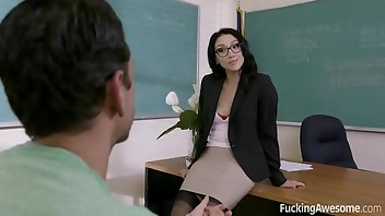 Teacher Stockings Cumshot Hardcore