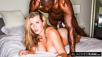Party Blonde Interracial Creampie