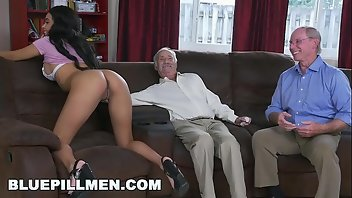 Grandpa Black Hardcore Interracial Blowjob
