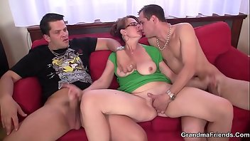 Striptease Riding Mature Threesome