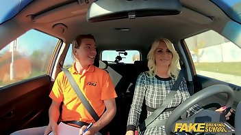 Taxi Blonde MILF Mom