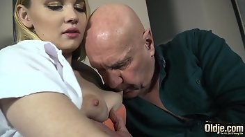 Grandpa Cumshot Facial Teen