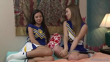 Cheerleader Lesbian Face Sitting Kissing