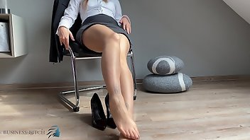 Shoes MILF High Heels Secretary