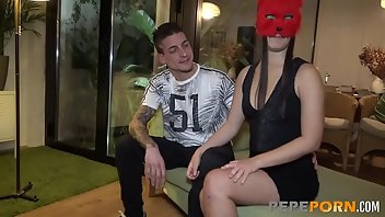 Mask European Blowjob Brunette