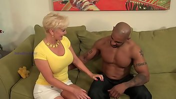 Granny Facial Blonde Interracial