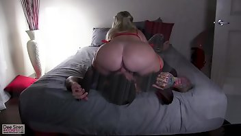 Jerking Blonde MILF Blowjob