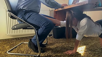 Secretary European Blowjob Handjob
