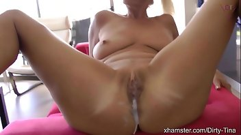 Mature Blonde Outdoor Creampie