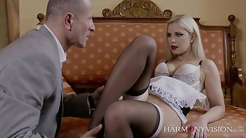 Glamour Stockings Cumshot European